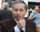 FIA president Jean Todt in the paddock on Friday
