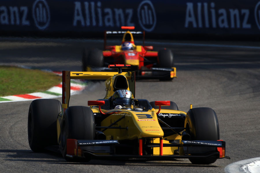 Davide Valsecchi on his way to winning the GP2 sprint race