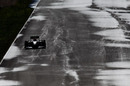 Michael Schumacher on the drying track