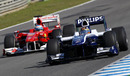 Nico Hulkenberg leads Fernando Alonso