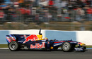 Mark Webber hits the track in the RB6