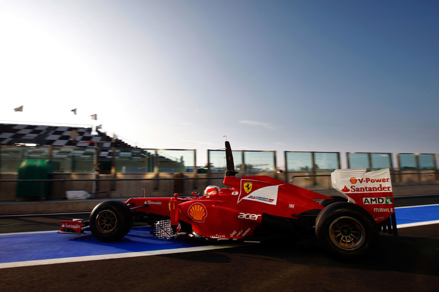 Jules Bianchi heads out on track in the Ferrari
