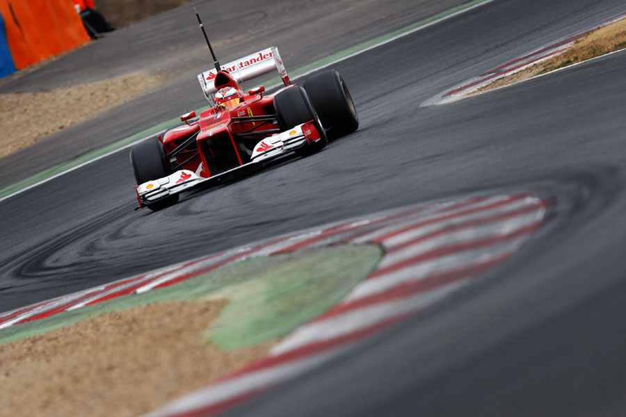 Jules Bianchi gets the power down in the F2012