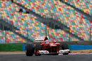 Davide Rigon on track in the Ferrari F2012