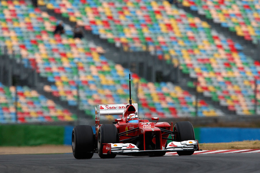 Davide Rigon on track in the Ferrari F2012