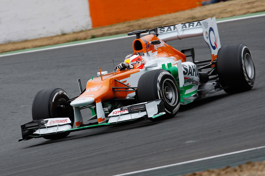 Jules Bianchi switches to Force India for the second day of the test