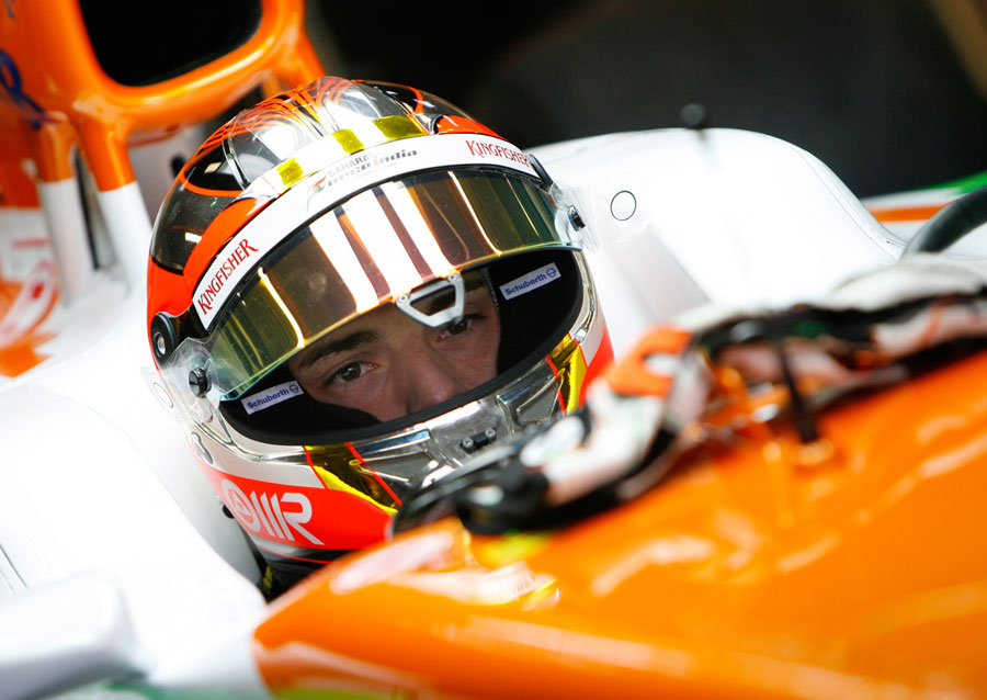 Jules Bianchi in the cockpit of the Force India
