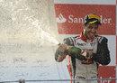Tio Ellinas celebrates victory on the podium