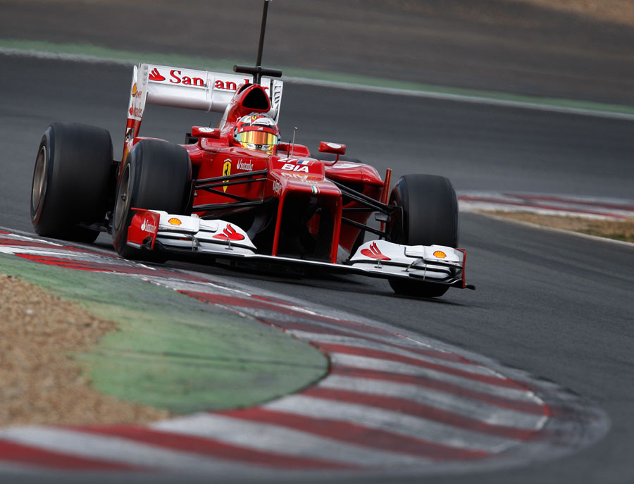 Jules Bianchi on track in the Ferrari