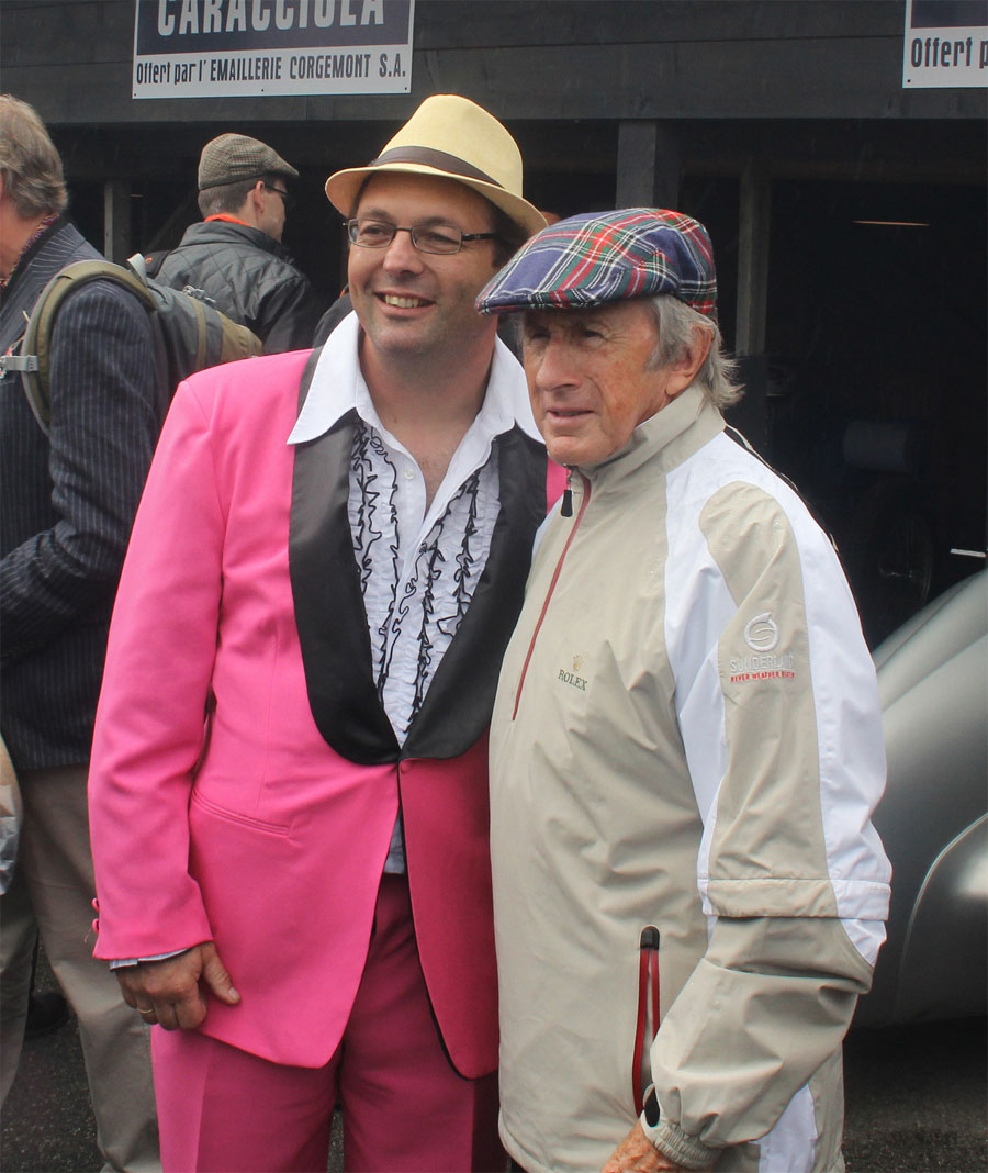 Sir Jackie Stewart and friend