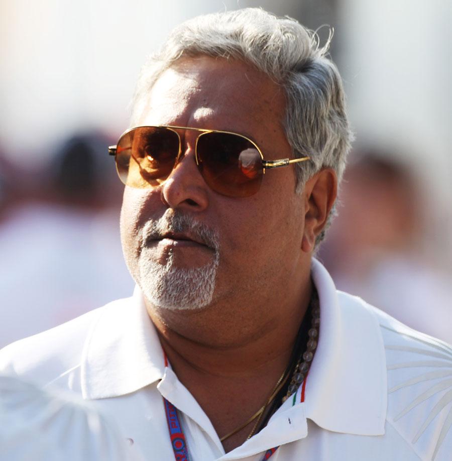 Vijay Mallya in the paddock