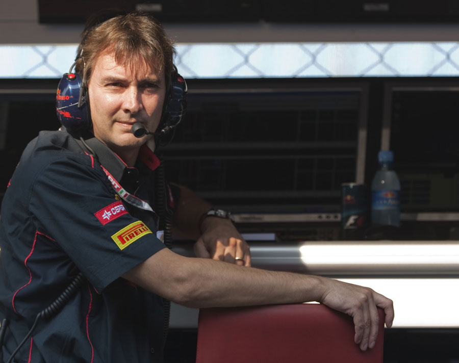 Toro Rosso technical director James Key on the pit wall
