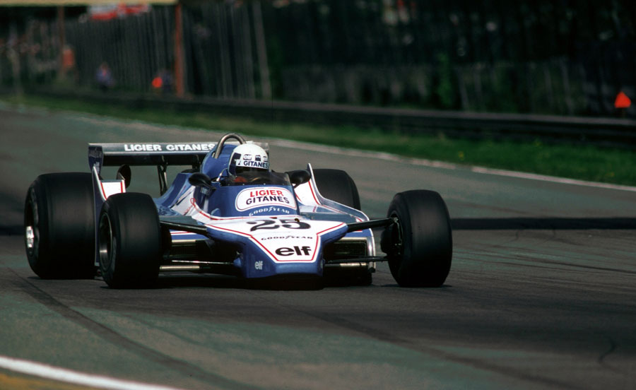 Didier Pironi en-route to his maiden grand prix victory
