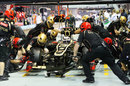 Kimi Raikkonen and Lotus complete a practice pit stop