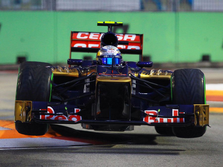Jean-Eric Vergne skips the kerbs