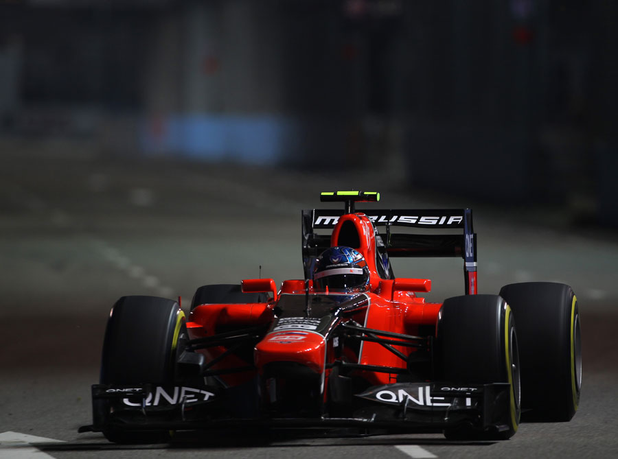 Charles Pic on track in the Marussia