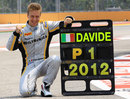 Davide Valsecchi celebrates being crowned GP2 champion in Singapore