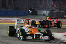 Paul di Resta rounds turn three with Mark Webber close behind