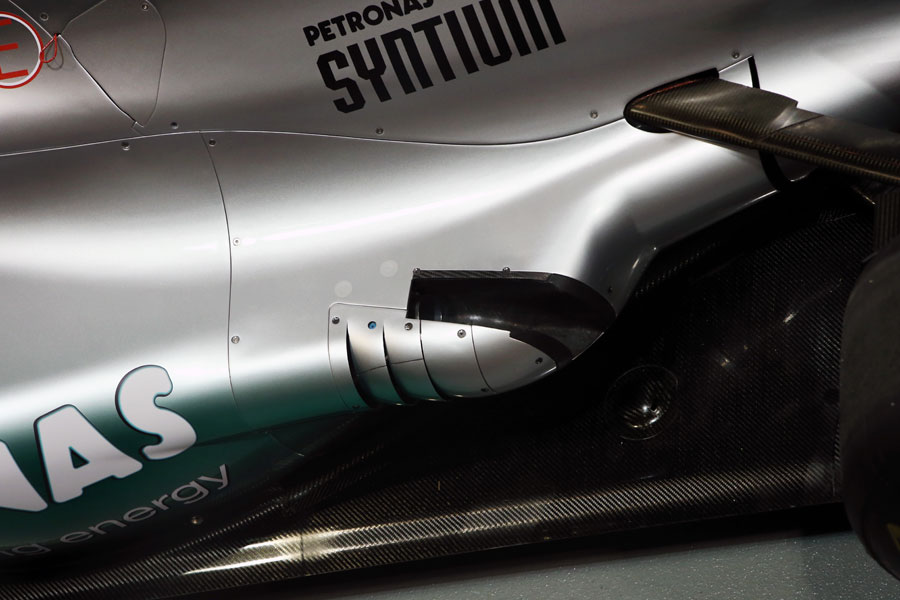 Mercedes new exhaust system