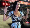 Pop star Katy Perry on the grid