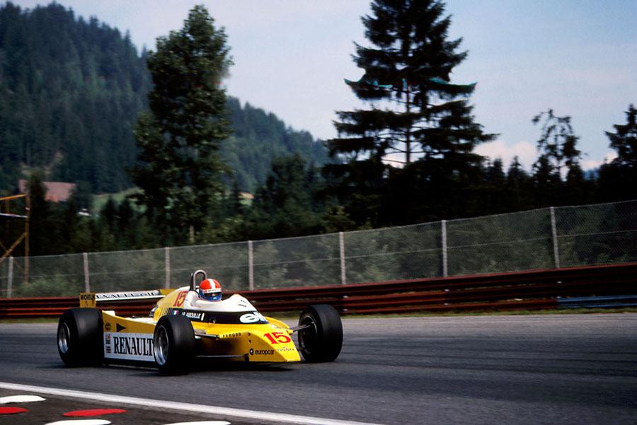 Jean-Pierre Jabouille on his way to victory in the Renault