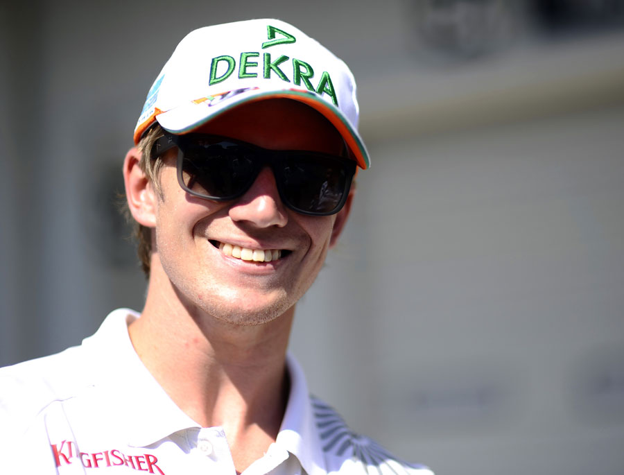 Nico Hulkenberg in the paddock