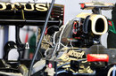 Rear detail of the Lotus E20's new rear wing 'device'