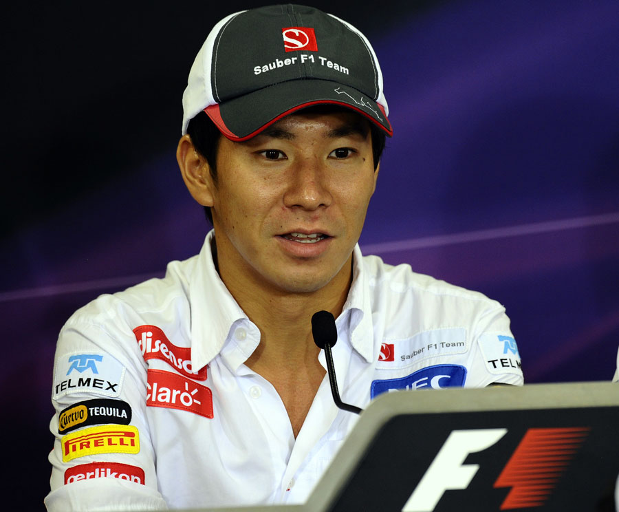Kamui Kobayashi in the press conference