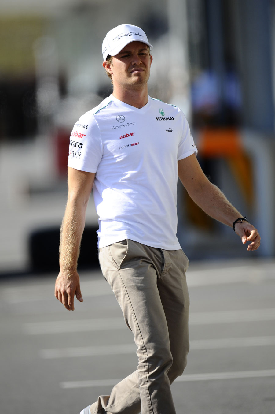Nico Rosberg in the paddock on Thursday