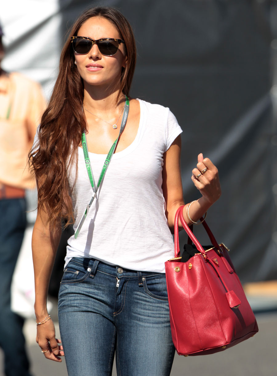 Jessica Michibata in the paddock