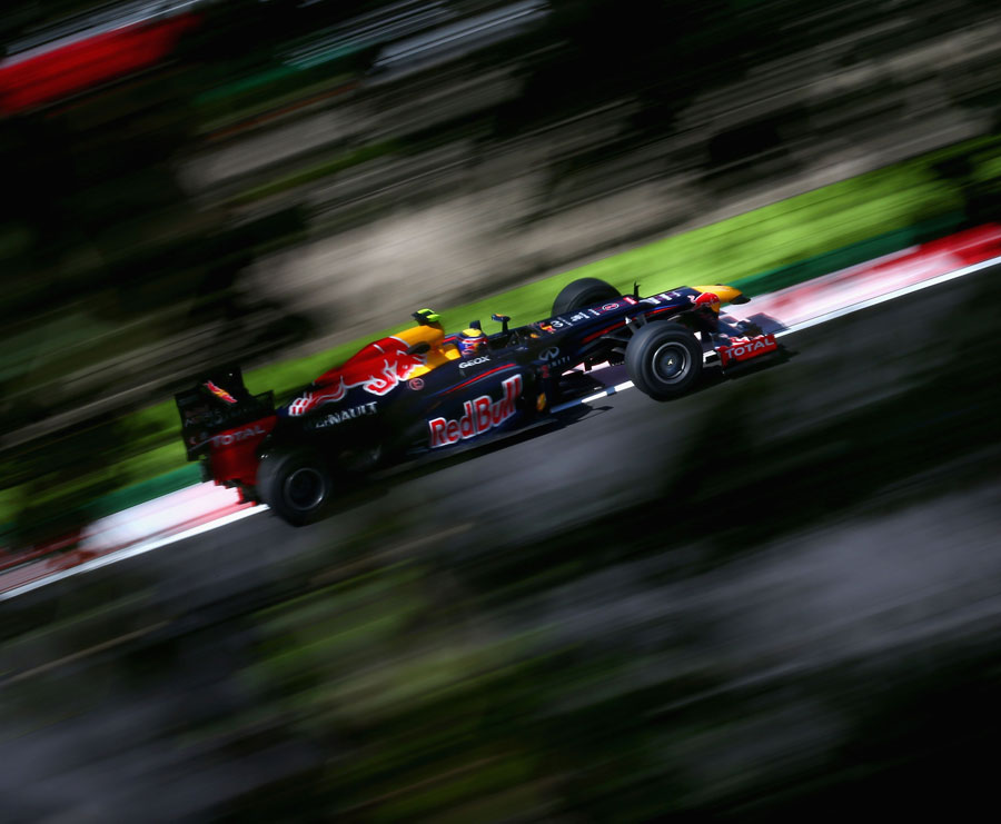 Mark Webber on a fast lap