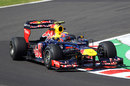 Mark Webber takes plenty of kerb