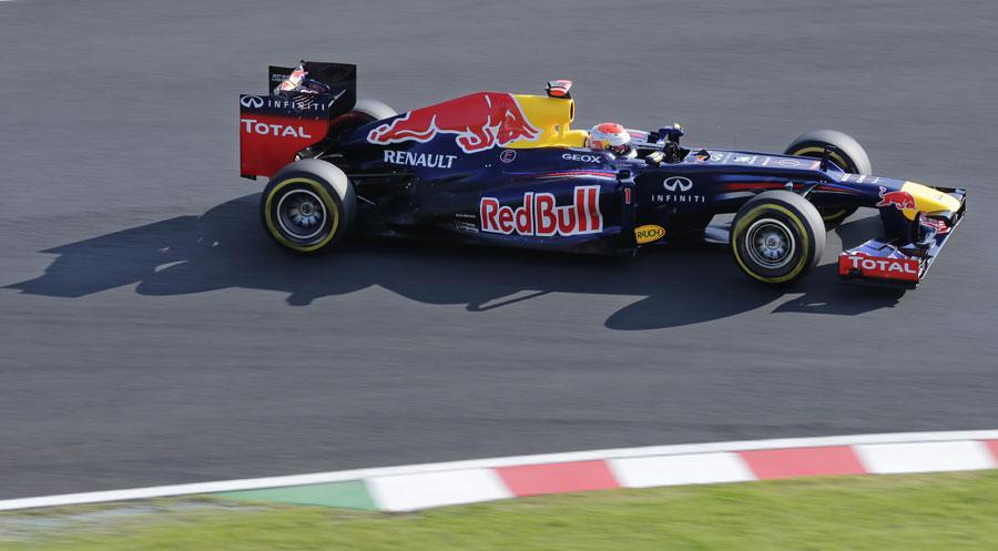 Sebastian Vettel leads comfortably