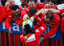 Felipe Massa celebrates with his team