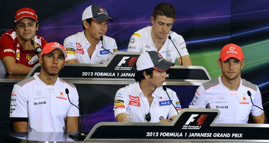The line-up in the driver press conference