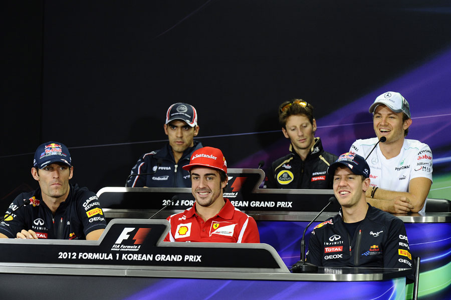 The driver press conference on Thursday