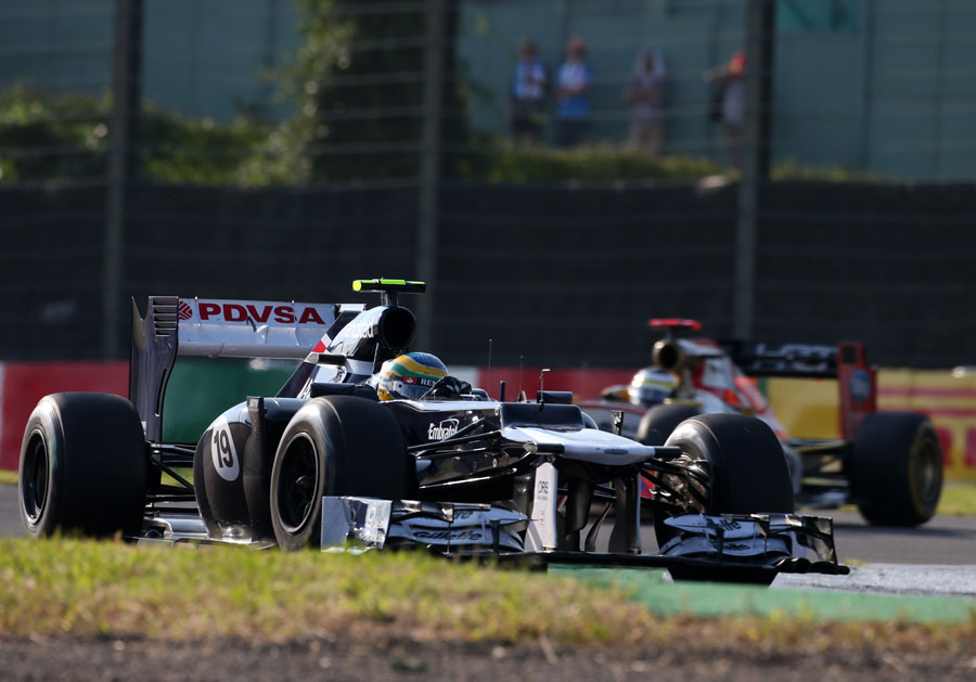 Bruno Senna on track in the Williams