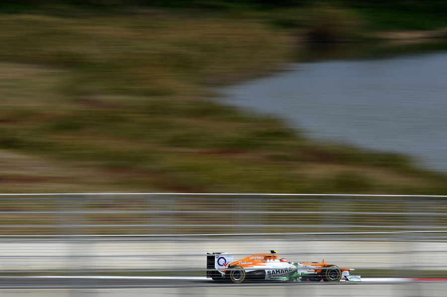 Jules Bianchi at speed for Force India