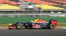 Sebastian Vettel at speed in the RB8