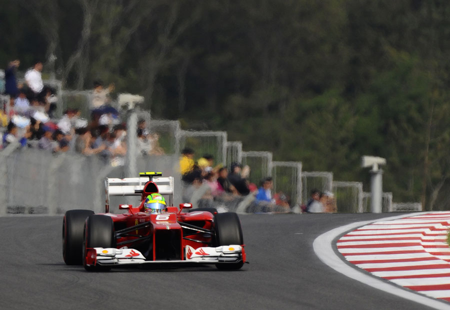 Felipe Massa on track in the Ferrari