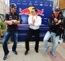 Mark Webber and Sebastian Vettel dance 'Gangnam Style' with Korean artist PSY