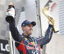 Sebastian Vettel celebrates victory in the Korea Grand Prix