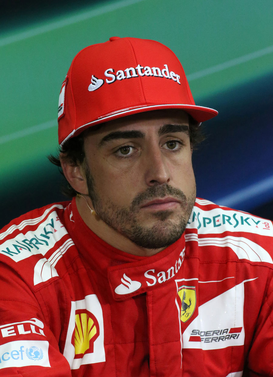 Fernando Alonso in the post race press conference