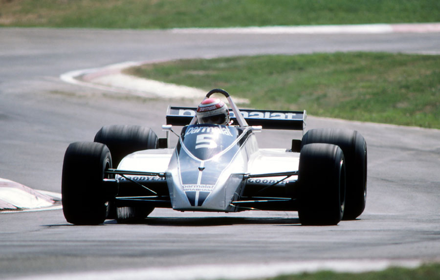 Nelson Piquet on the way to winning the Italian Grand Prix