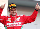 Felipe Massa soaks up the praise on the podium