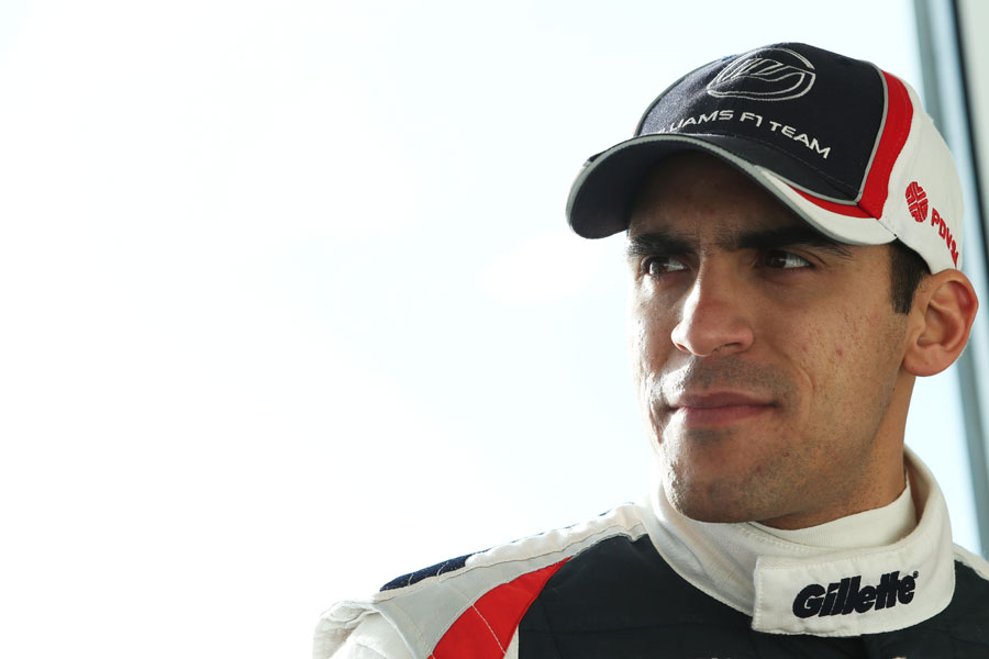 Pastor Maldonado at a Williams media and partners day