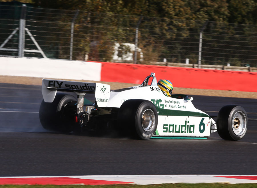 Bruno Senna on track in the Williams FW08