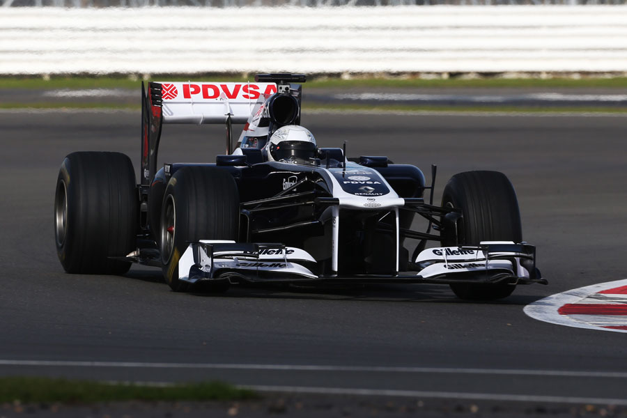 Susie Wolff test drives the 2011 Williams FW33