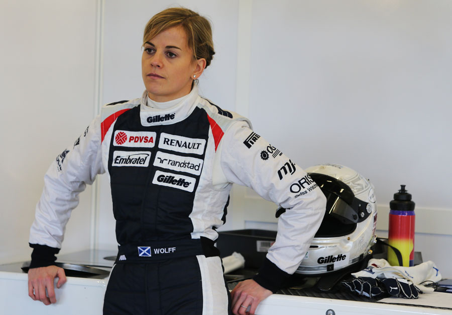 Susie Wolff ahead of her test drive in the 2011 Williams