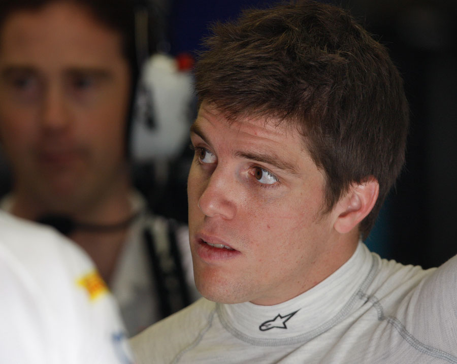 Luiz Razia in the garage